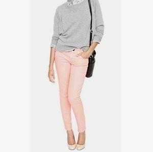 J Crew Pastel Pink Toothpick Skinny Ankle Jean 26